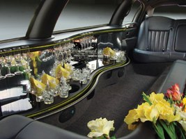 10 Pass. Lincoln Limousine Interior, los angeles limos